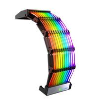 乔思伯(JONSBO)彩虹桥DY-1 幻彩 24PIN 电源发光线(5V ARGB 神光同步/or自动彩虹灯效)