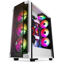 鑫谷(Segotep)开元T1白色全塔大机箱(ATX3.0显卡垂直安装/360水冷位/E-ATX主板位/多硬盘位/TypeC传输口)