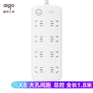 aigo 爱国者 爱国者(aigo) 新国标插座/插排/插 /大孔间距1.8米 AC0801