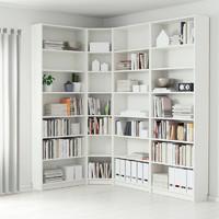 毕利书柜实木自由组合书架带门简约现代书橱置物架玻璃门置物柜