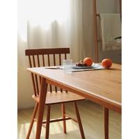 小半北欧餐桌家用小户型全实木家具白橡木桌子简约原木餐桌椅组合