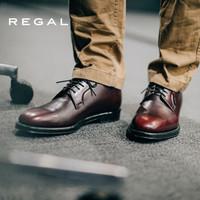 REGAL丽格日本制固特异商务办公系带纯色德比鞋W34D JPY7 WINE(深紅色) 42