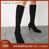 CHARLES&KEITH冬季新品CK1-90360339女士高跟长靴