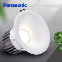 松下(Panasonic)筒灯射灯LED筒灯天花灯客厅卧室嵌入式筒灯白色边框5W4000K NNNC76056T 5只装 开孔90-92mm