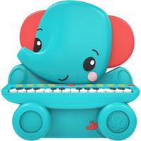费雪(Fisher-Price)动物立式钢琴 儿童弹奏乐器早教音乐启蒙玩具婴幼儿礼物女男孩大象GMFP026B