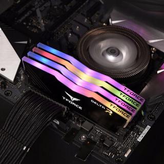 十铨(Team)DDR4 3200 16G(8G*2)台式机内存条 Delta系列 RGB灯条
