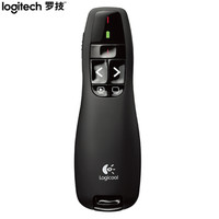 京东PLUS会员 : 罗技(Logitech)R400 无线演示器 ppt翻页笔 演示笔(激光笔)电子笔 投影仪遥控笔