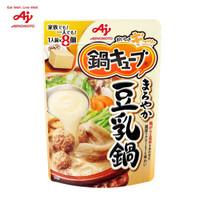 日本进口 味之素  AJINOMOTO 豆乳高汤锅底速食锅底调味料一人食汤类调味块8个 77g/袋