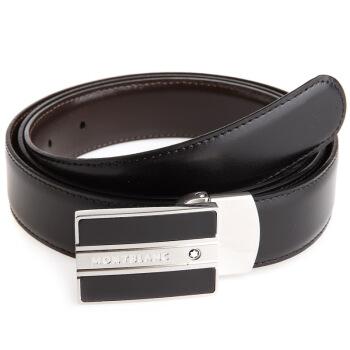 MONT BLANC 万宝龙 经典当代系列 38156 男士板扣皮带 黑色 120cm