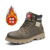 21新品英伦风雪地靴男士马丁靴加绒工装男鞋冬季保暖棉鞋子