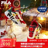 新年穿新鞋,颜色喜庆的圣诞款红色斐乐童鞋开箱