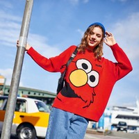 Material Girl 芝麻街联名 MWEEA4B1616 女式套头毛衣