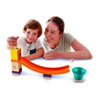 玩的开心 篇六:2岁玩到停不下来 最简单的夸得瑞拉 -Hape 夸得瑞拉滑梯响铃积木
