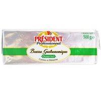 President 总统 发酵型动物咸味黄油块 500g *4件 +凑单品