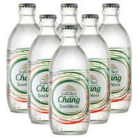 泰国进口 Chang象牌苏打水325ml*6瓶 组合装泰国大象无糖气泡水 *5件