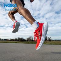 HOKA ONE ONE男卡奔X2竞速公路跑步鞋 Carbon X2减震透气运动鞋新品 假日红 / 白色  7.5 /255mm