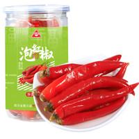 川珍 泡红椒500g 四川泡菜 二荆条辣椒酱腌菜咸菜佐餐做菜