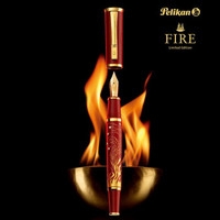 pelikan百利金限量收藏德国原装进口fire镶钻火焰墨水笔钢笔