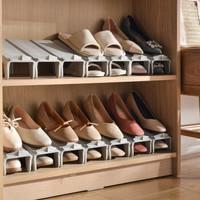 京东PLUS会员 : 百露鞋子置物架鞋柜多层省空间鞋托家用衣帽间经济型简易鞋架 组合鞋架白色10个装 *3件