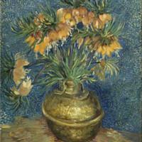 buybuyART 买买艺术 梵高《铜花瓶上的皇冠贝母》 50x40cm 装饰画 版画