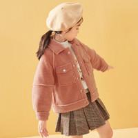 LAVI女童外套2020冬季新款儿童翻领羊羔毛绒保暖厚外套女