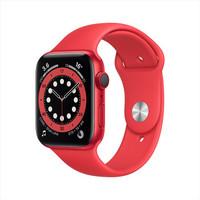 Apple Watch Series 6智能手表GPS+蜂窝款 44毫米红色铝金属表壳 红色运动型表带 M09C3CH/A