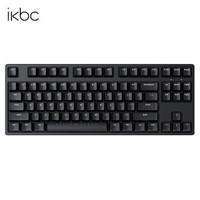 ikbc 机械键盘笔记本办公键盘电脑游戏德国原厂cherry樱桃轴 C87有线黑色87键 红轴