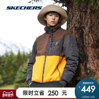 Skechers斯凯奇冬季新品男女装针织裥棉保暖泰迪绒外套L420U056