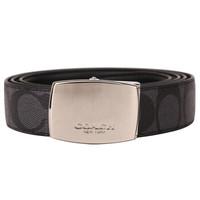 蔻驰(COACH) 奢侈品 男士礼盒款腰带黑色/炭灰色PVC F65242 CQBK