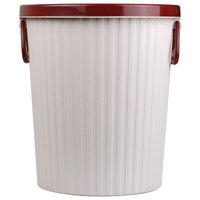探戈垃圾桶10L带压圈垃圾篓/清洁桶办公厨房卫生间客厅 中号 浅粉色 *2件