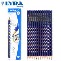 LYRA德国艺雅洞洞铅笔HB儿童三角形铅笔小学生用12支盒装1760100