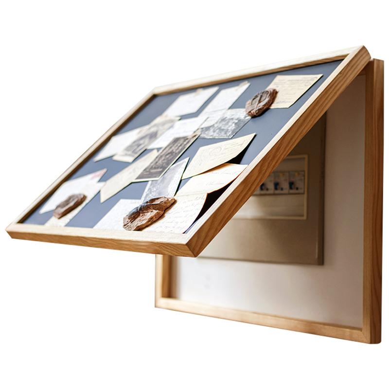 掬涵電表箱裝飾畫黑板吸鐵磁性留言板免打孔遮擋配電箱電源開關盒