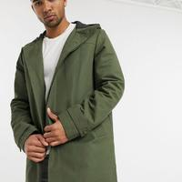 [男款] ASOS|ASOS DESIGN绿色抗淋浴连帽风衣