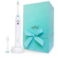 softie超细软毛电动牙刷声波电动牙刷美白牙刷充电式 2个刷头 白色
