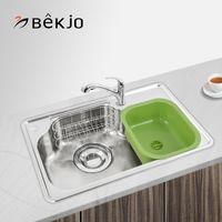 韩国白鸟水槽304不锈钢大单槽超大空间 厨房洗菜盆洗碗盆 DX750