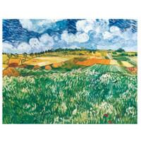 买买艺术 梵高《奥维森平原》艺术版画抽象装饰画50*65cm