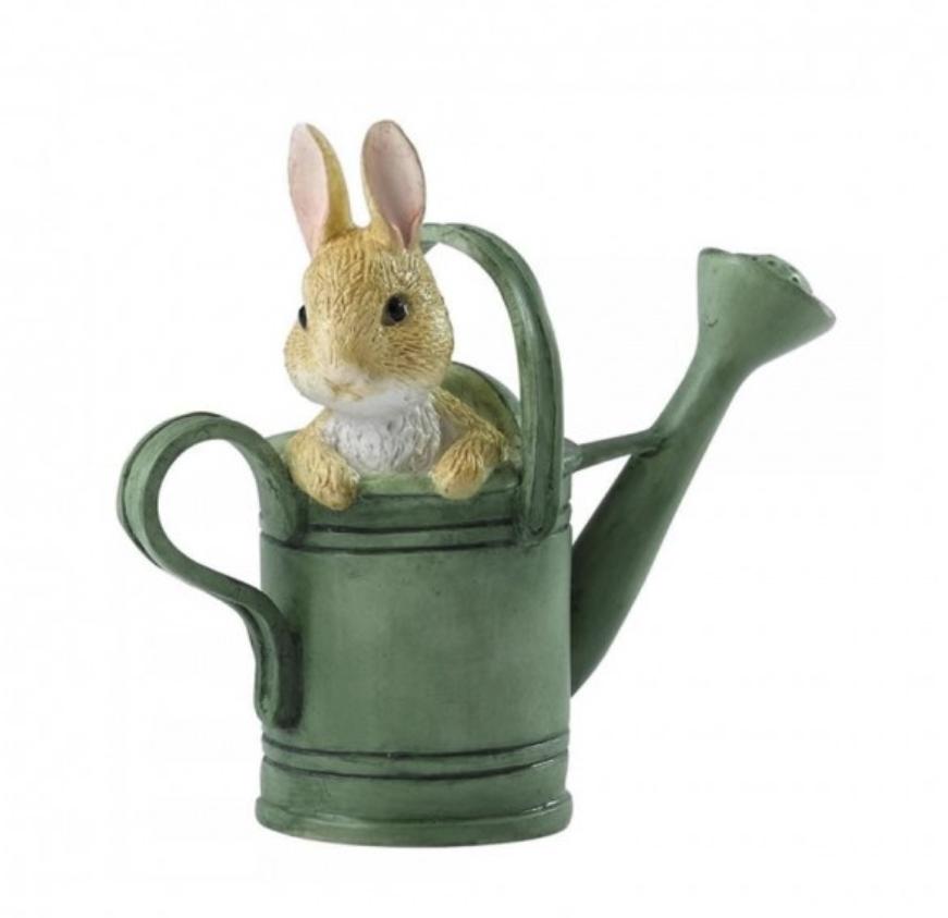 Beatrix Potter 碧雅翠丝·波特待在花洒里的彼得兔迷你雕像