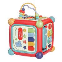 babycare六面盒多功能宝宝玩具 形状配对认知积木早教玩具屋 7390光栅红 新年礼物 *4件