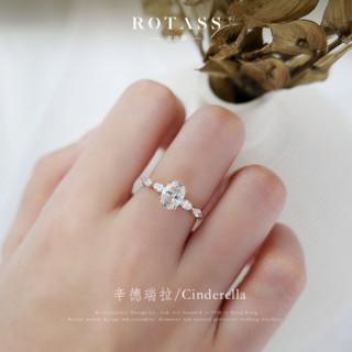 ROTASS诺塔思[辛德瑞拉]1克拉钻戒求婚结婚女戒指正品定制K金婚戒
