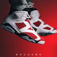 Nike耐克 Air Jordan 6 AJ6 白红胭脂复刻男子篮球鞋 CT8529-106