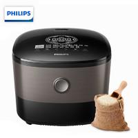 飞利浦(PHILIPS) 电饭煲 家用五谷杂粮电饭锅 智芯IH加热技术智能预约 HD4561/00多功能液晶显示4L