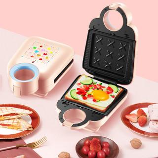小型双面加热可拆洗卡扣调节厚度蛋糕机早餐机三明治机601