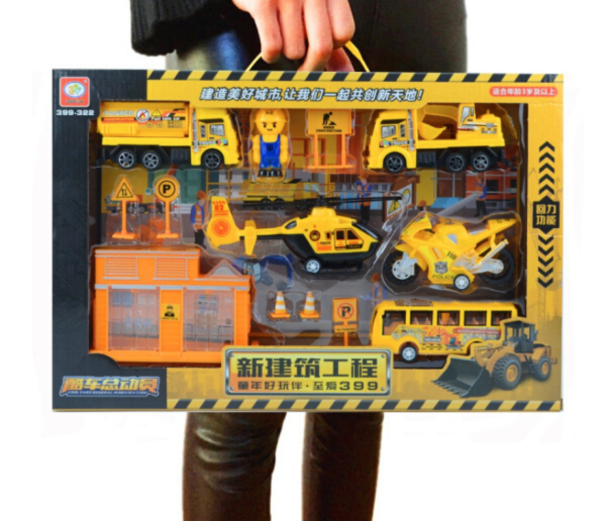 貝利雅 回力工程車系列 盒裝工程車