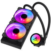 鑫谷(Segotep)冰封240水冷CPU散热器(ARGB主板同步/多模式可调灯效/高效传导硅脂/静音风扇/支持I9)