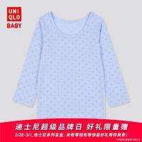优衣库 婴儿/幼儿 HEATTECH U领T恤(长袖 温暖) 429859 UNIQLO