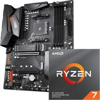 GIGABYTE 技嘉 X570 AORUS ELITE WIFI 主板+ AMD 锐龙 7 3700X 盒装CPU 板U套装