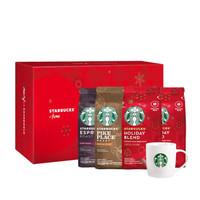 星巴克(Starbucks)进口原装咖啡豆粉套装4袋共780g(浓缩烘焙*1+特选综合*1+节日综合*2)