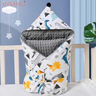 INSAHO 婴儿抱被新生儿防惊跳豆豆毯