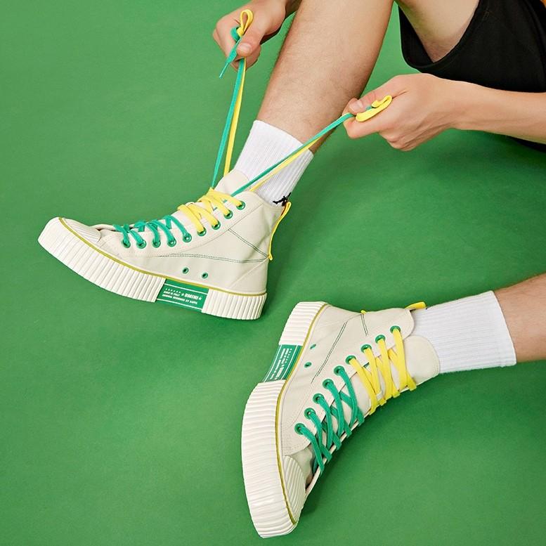 Kappa 卡帕 電音聯名 K0AY5VS02D34Yn 男/女款高幫帆布鞋