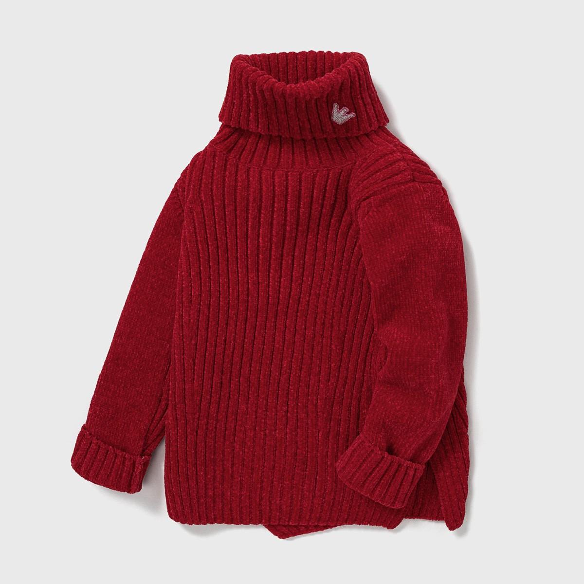 ABCKIDS 女童高領毛衣